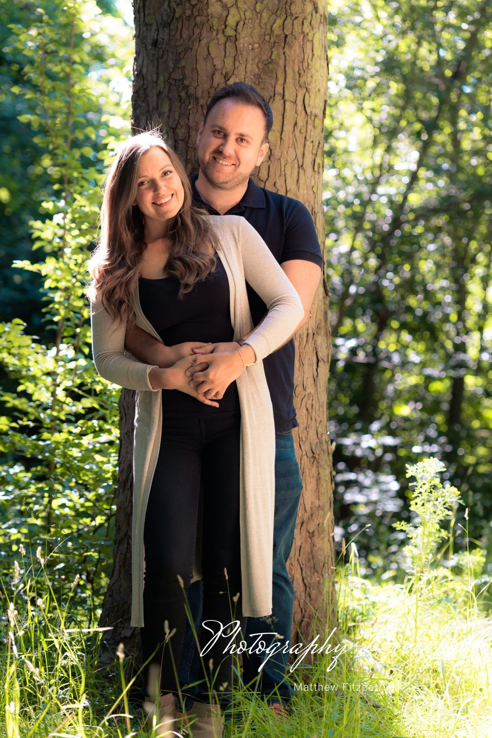 Naturally posed engagement photography at Sefton Park by Photography Liverpool Wedding Photographer