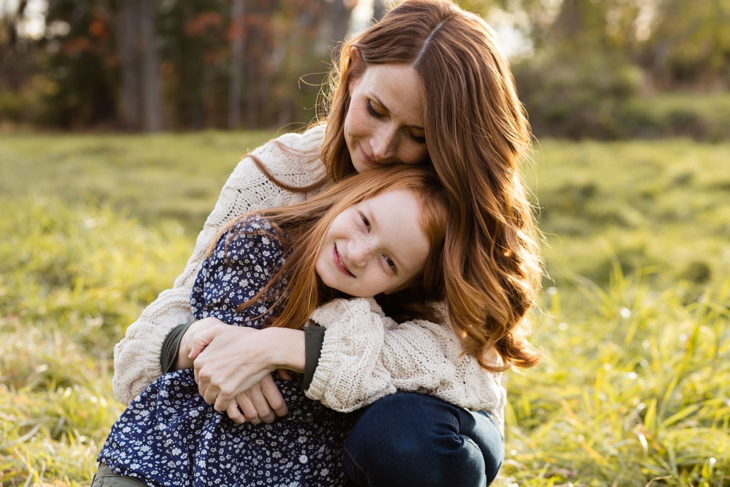 Mother and daughter family photo, Newburgh, New York