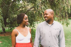 Cambridge Massachusetts engagement session at Alewife Brook Reservation