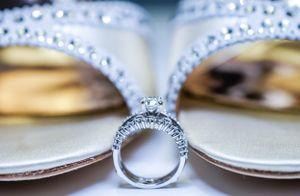 Wedding photography jewelry detail shoot in Bahamas' Meliá Nassau Beach all inclusive resort