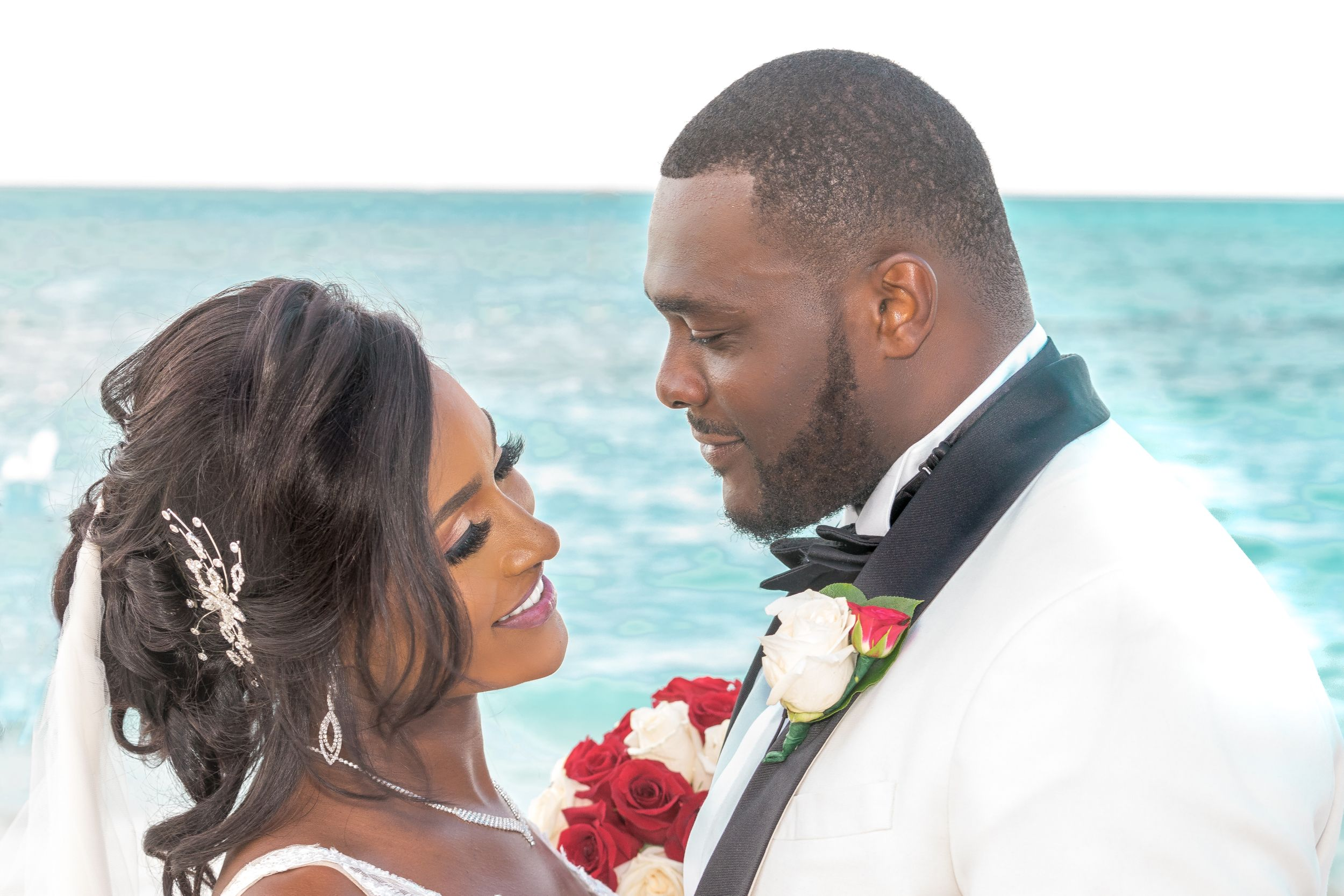 Boston based travel wedding photographer bridal shoot in Bahamas' Meliá Nassau Beach all inclusive resort
