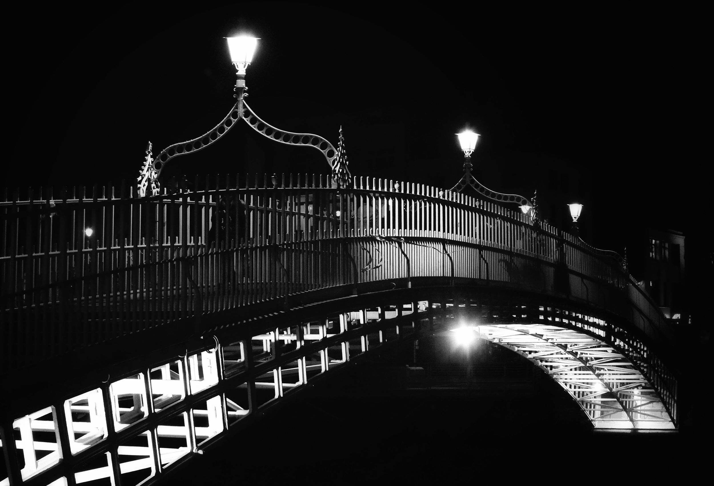 Ha'Penny Bridge - Dublin Blackandwhite Ireland Bridge Europe