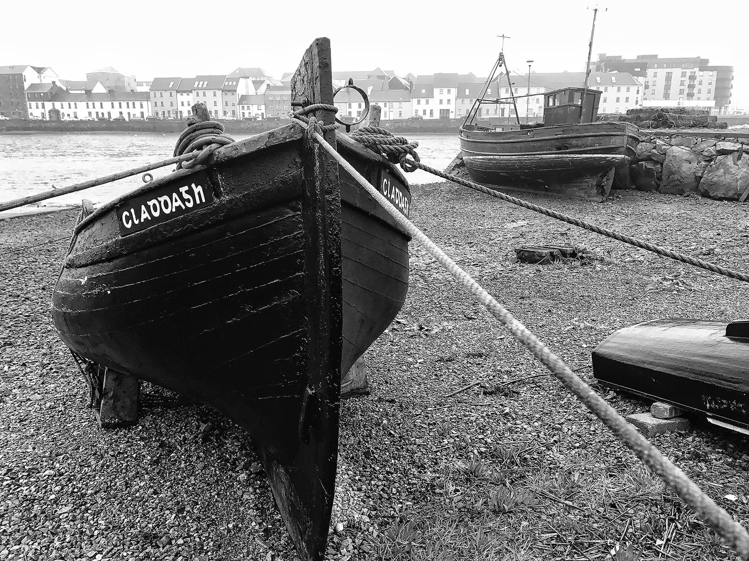 Galway Ireland Boat Claddagh Black and White Blackandwhite GalwayBay