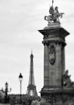 EiffelTower Blackandwhite Paris France Black and White