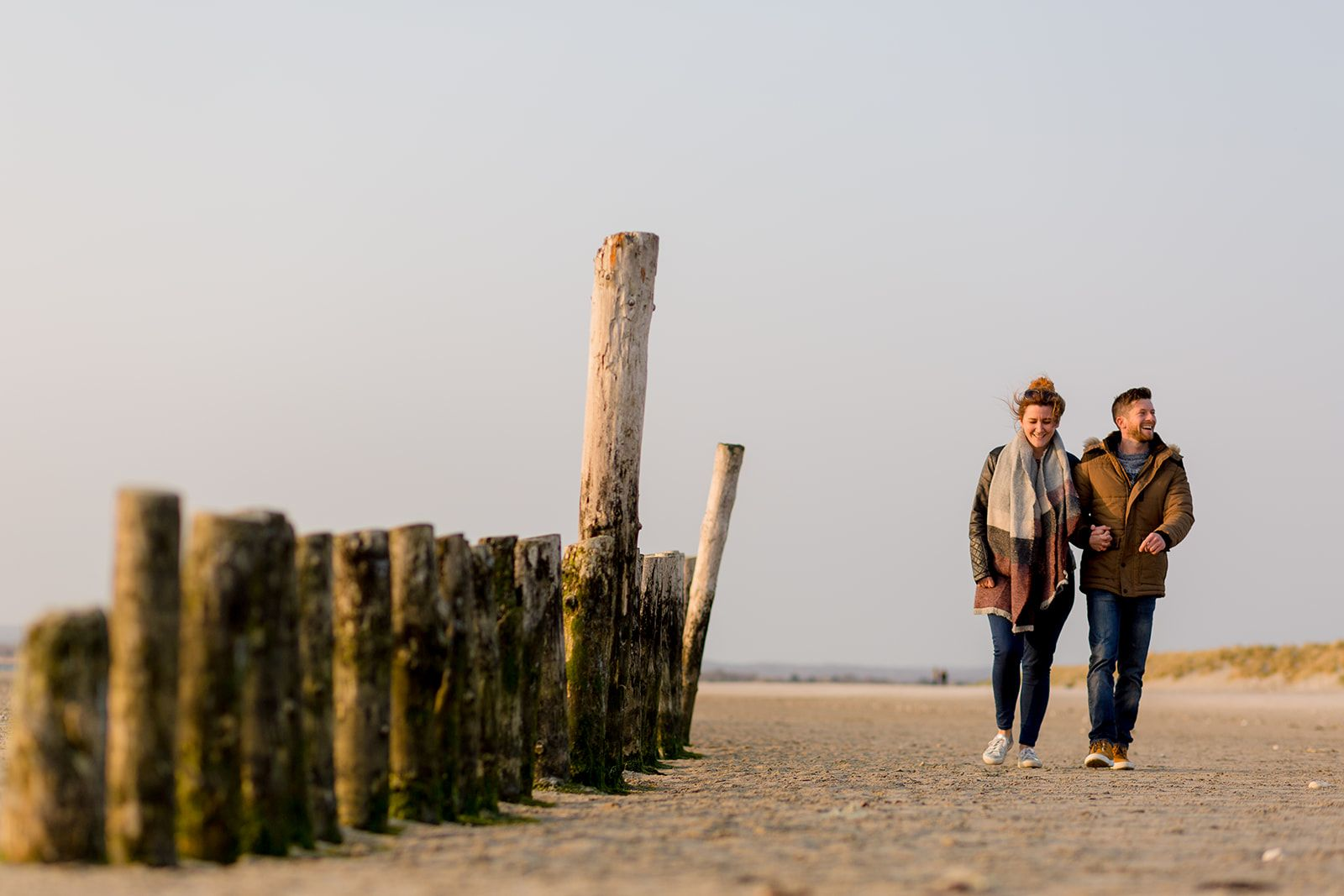 west wittering beach engagement photos