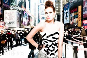 fashionphotography New York Times Square Eva model