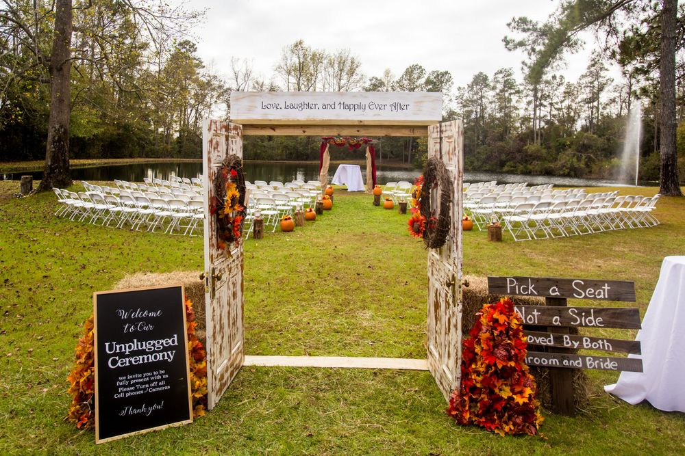 Setup for a wedding at T&S Farm in Leesville, SC