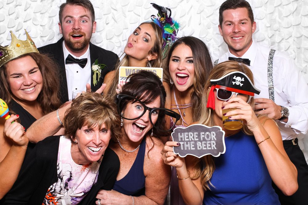 Wedding guests at Gigglebox Photo Booth