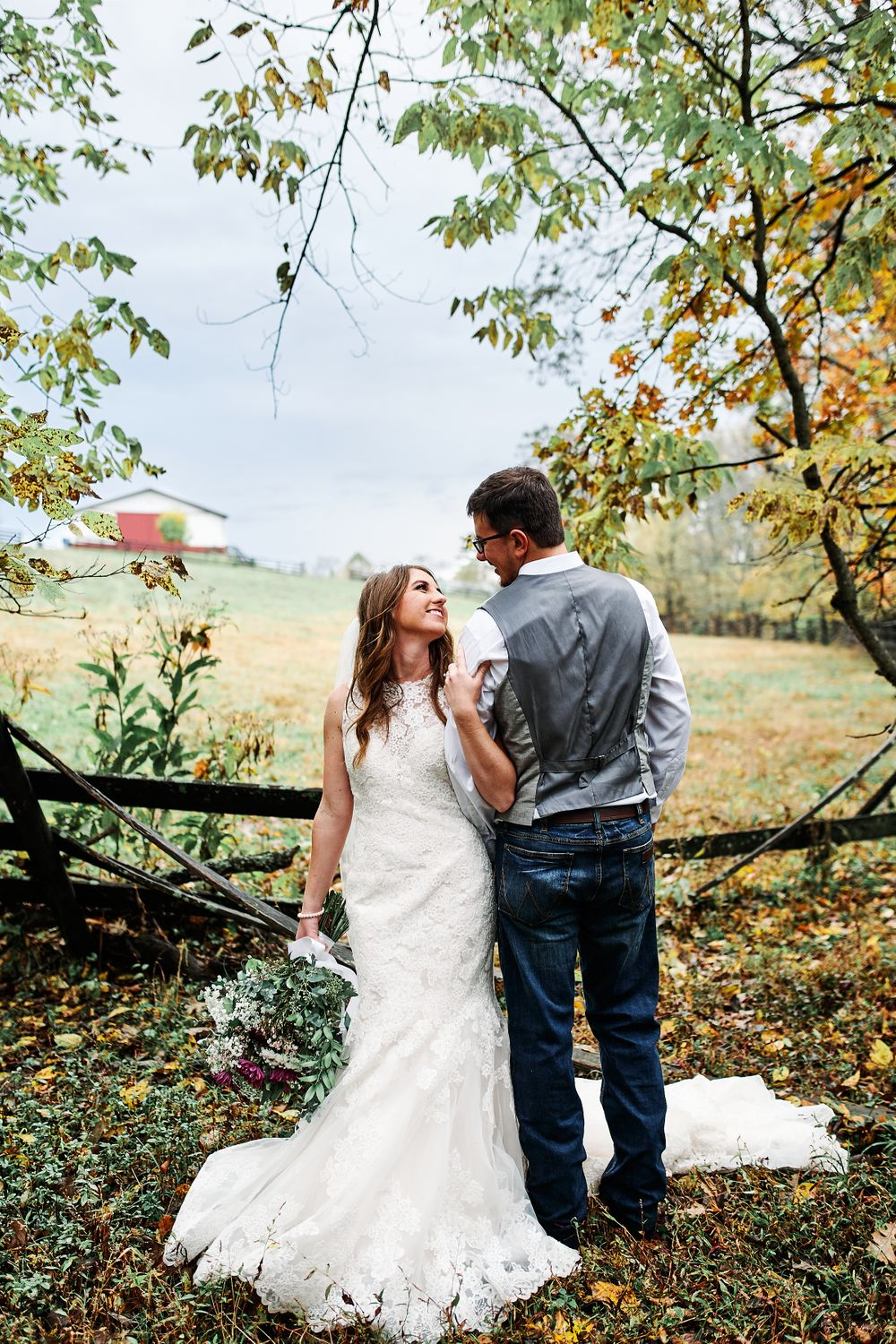 Outdoor portraits from a barn wedding located in Kentucky Shutter Photography & Film
