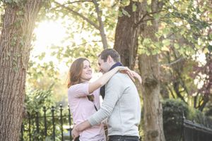 Oxford Autumn Golden Hour Pre Wedding Photography Squib