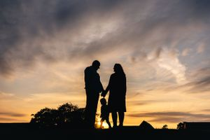 Sunset Family Pre Wedding Photography Caswell House
