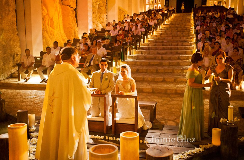 Xcaret chapel wedding photos 4