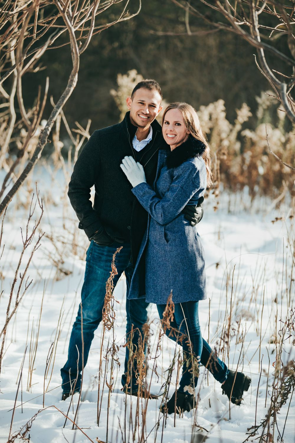 Winter Engagement Photos at Fanshawe Conservation Area London