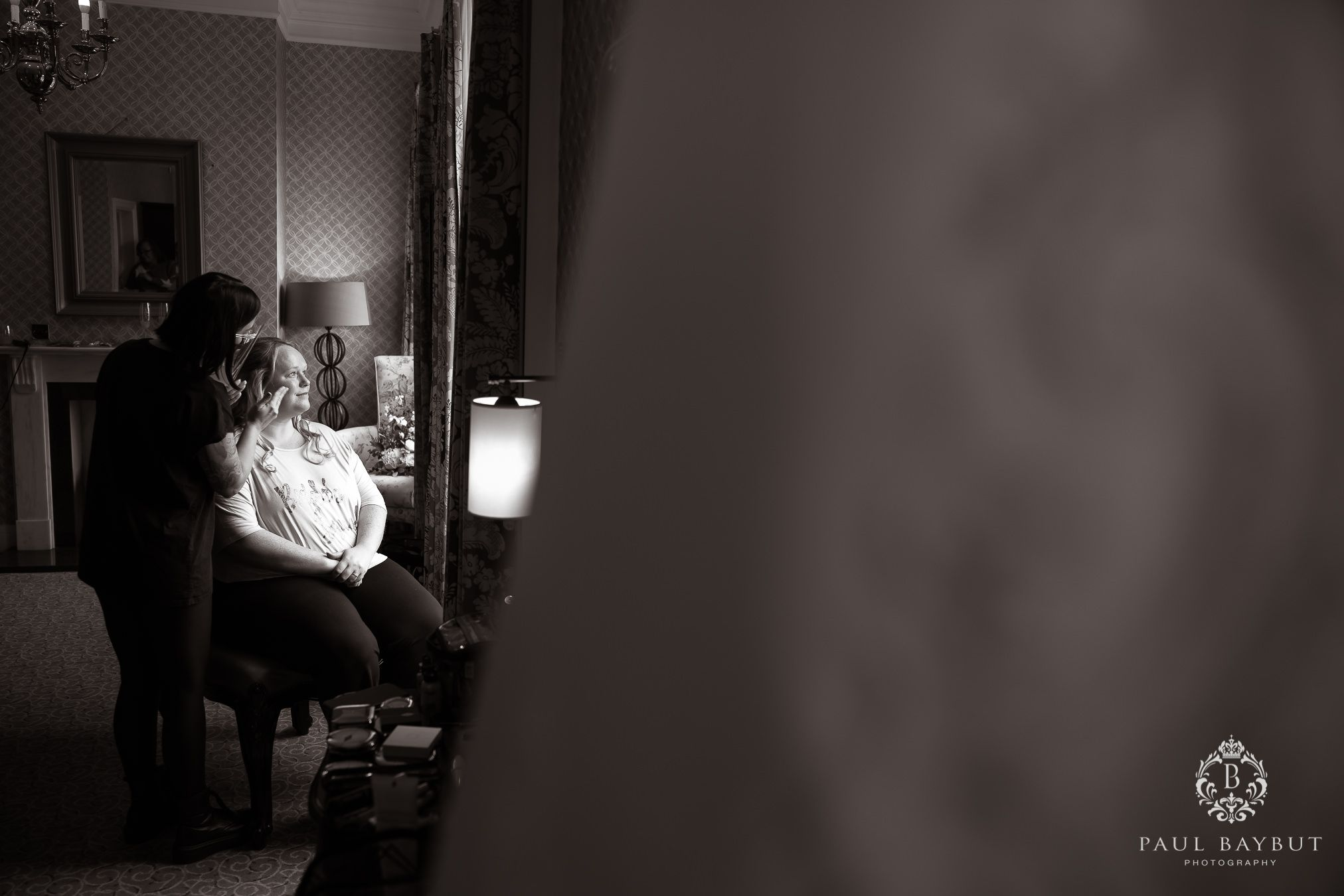 Mottram Hall wedding blog photography of bride getting ready during bridal prep
