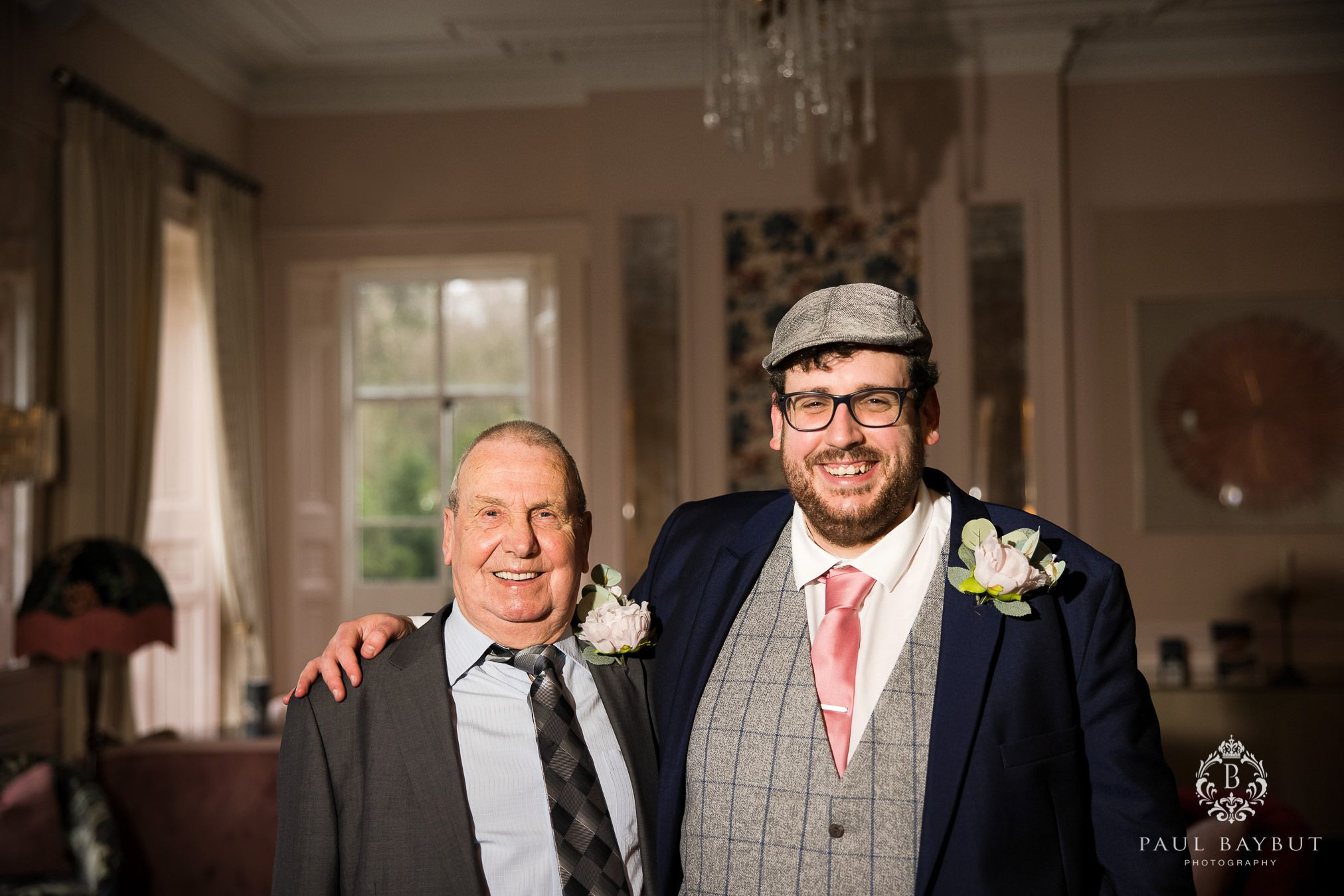 Family wedding photos at Mottram Hall Winter wedding