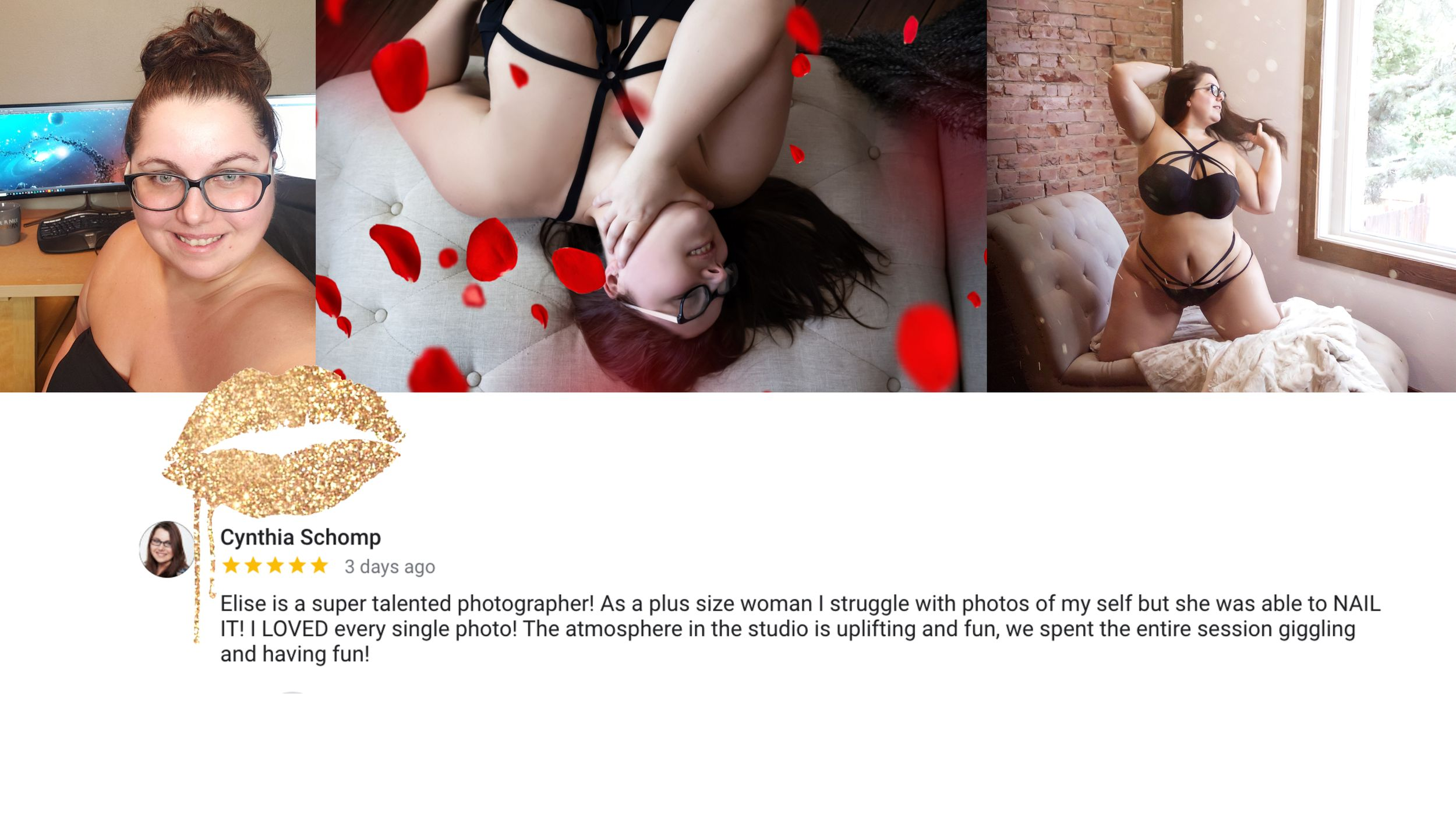 REVIEW OF BOUDOIR BY ELISE FROM A GORGEOUS PLUS SIZE CLIENT