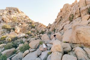 joshua tree national park rock formations engagement