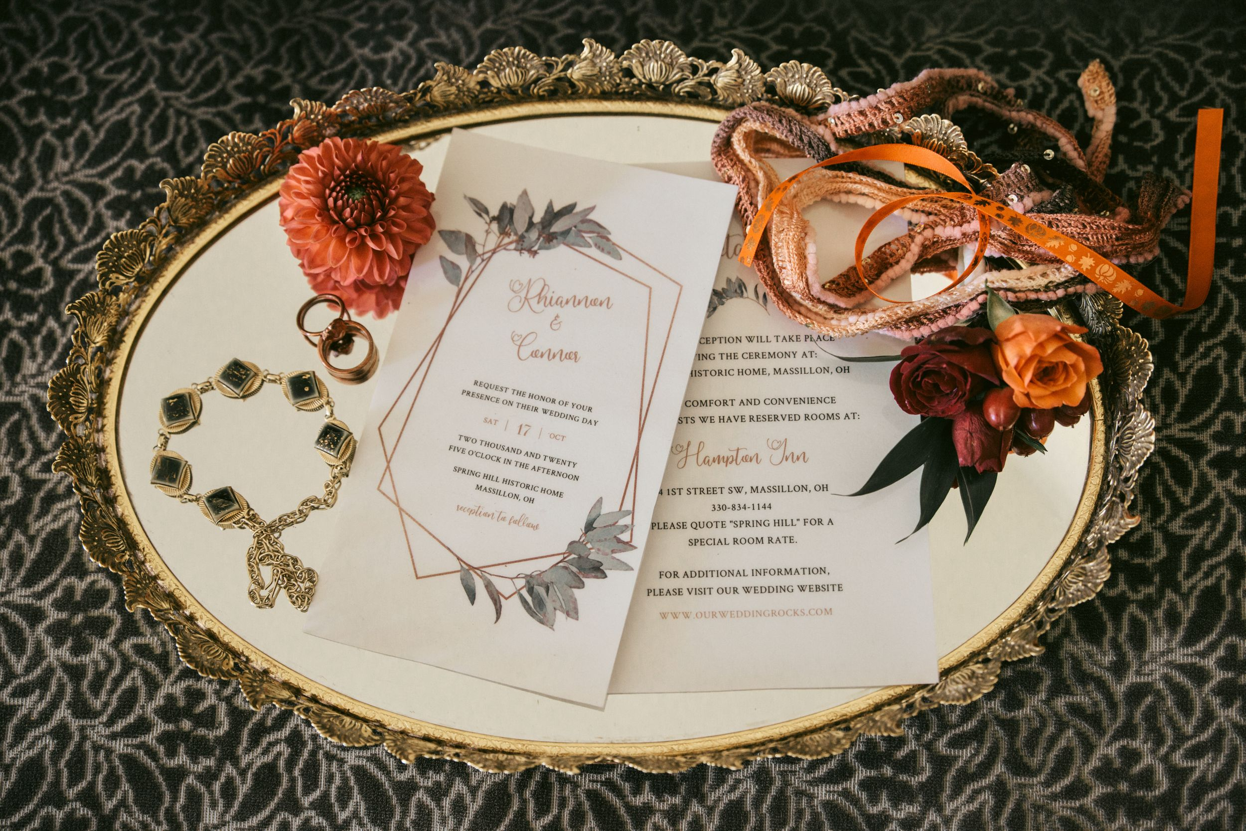wedding details , LGBT fall wedding in Ohio