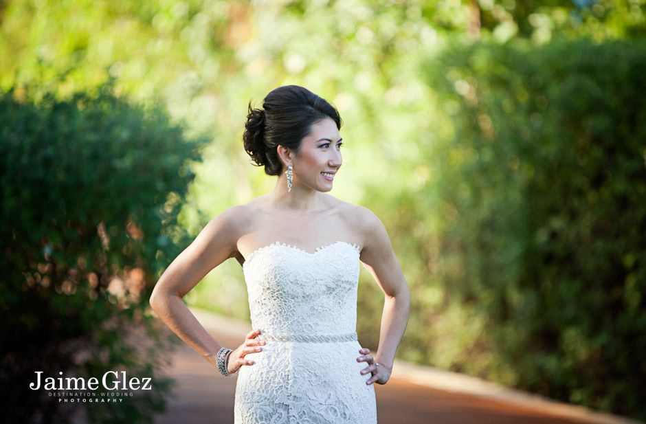 Bride pictures at the Fairmont Mayakoba