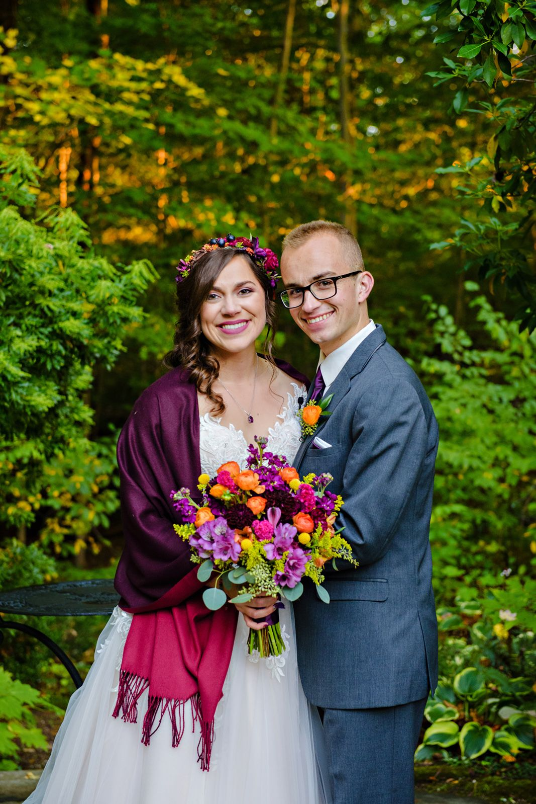 Fall Wedding at Lantern Court at Holden Arboretum