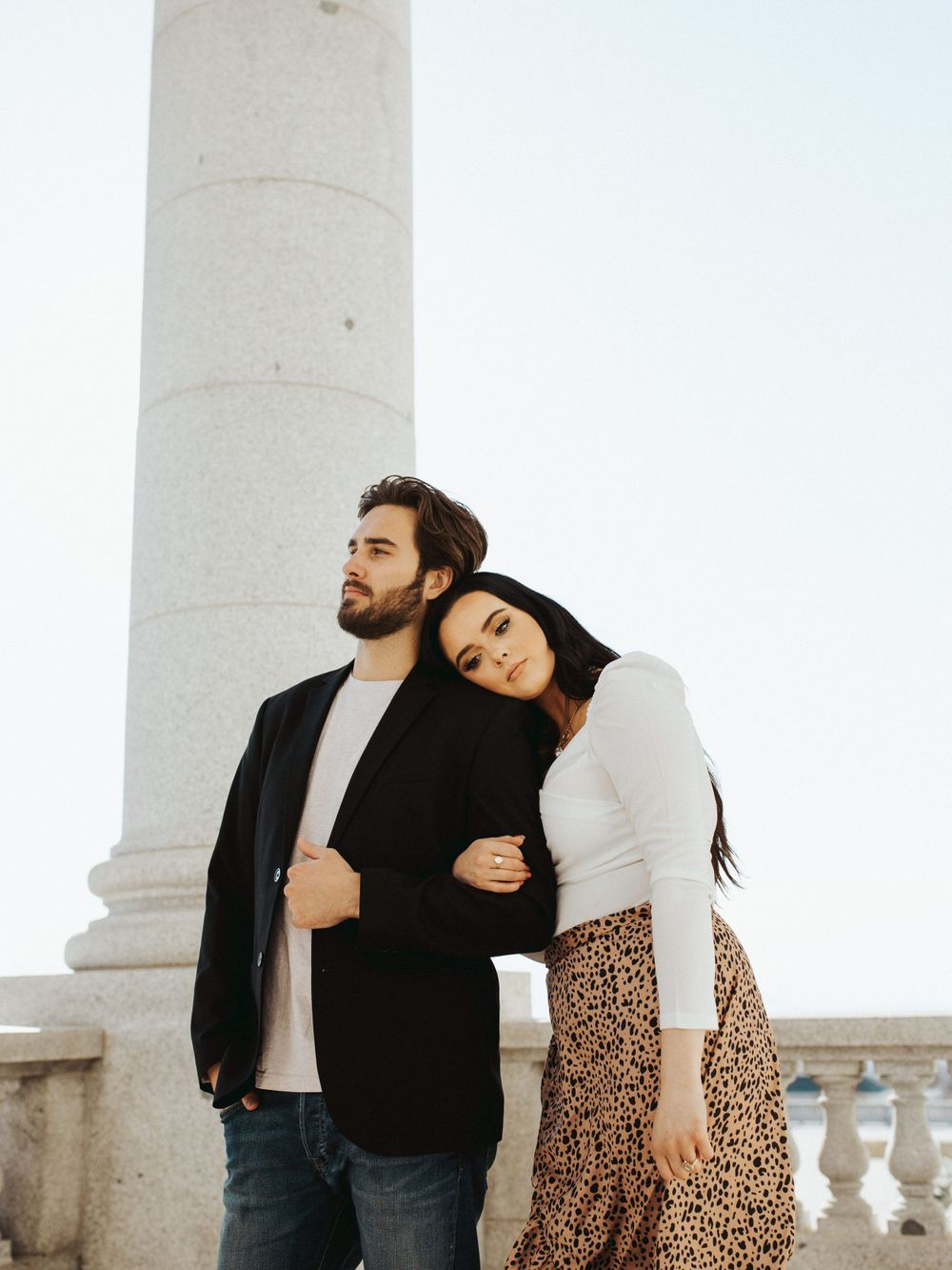 utah couple session posing inspiration outfit inspiration engagement winter city photoshoot utah wedding photographer