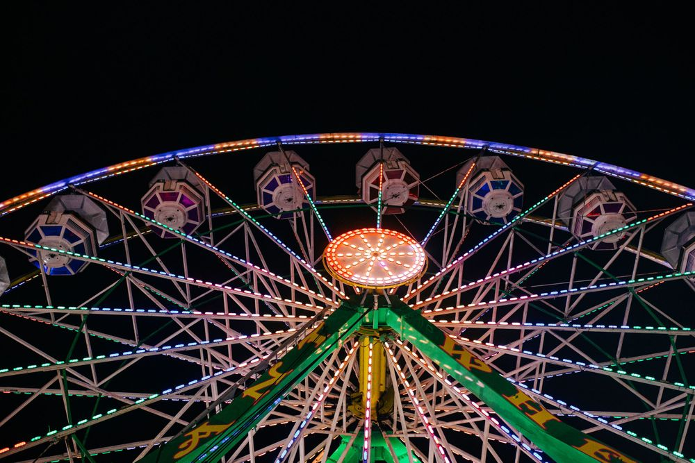 Ferris Wheel at Night photo by Lenka Vodicka of Lenkaland Photography at the Nevada County Fairgrounds