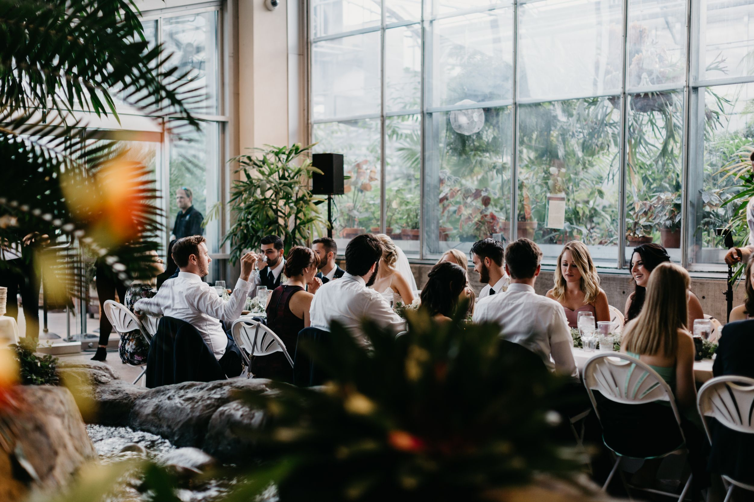 Wedding Reception at Marnie's Pavilion at Denver Botanic Gardens