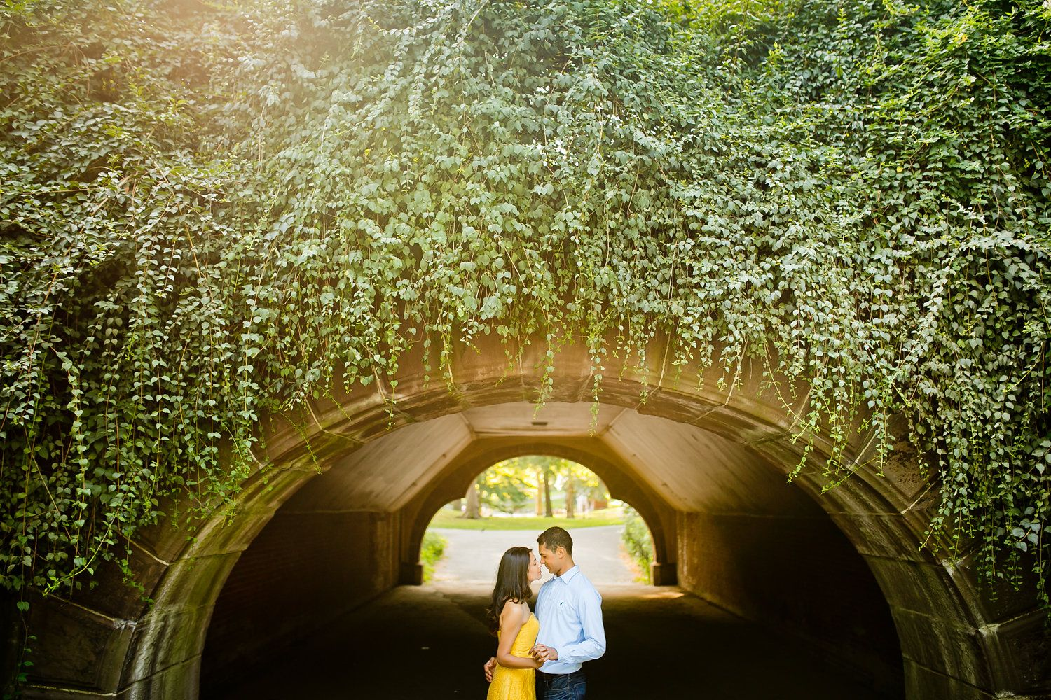 under passage engagement pictures in central park