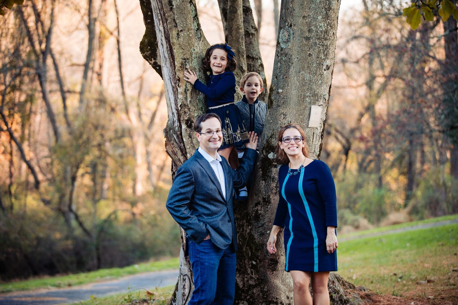 Family photo session at Ridley State Park
