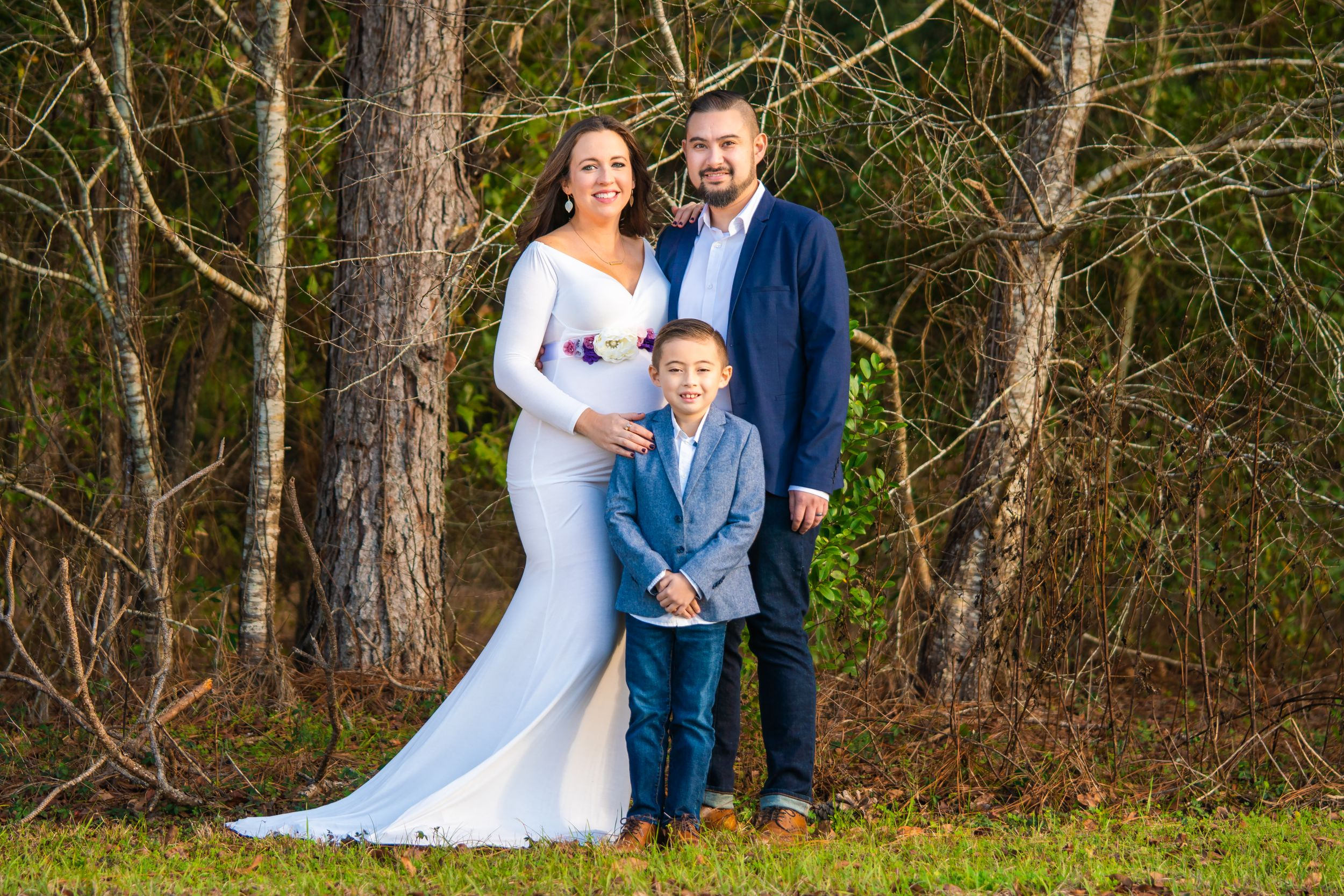 Family Portrait in front of trees at Miccosukee Green Way
