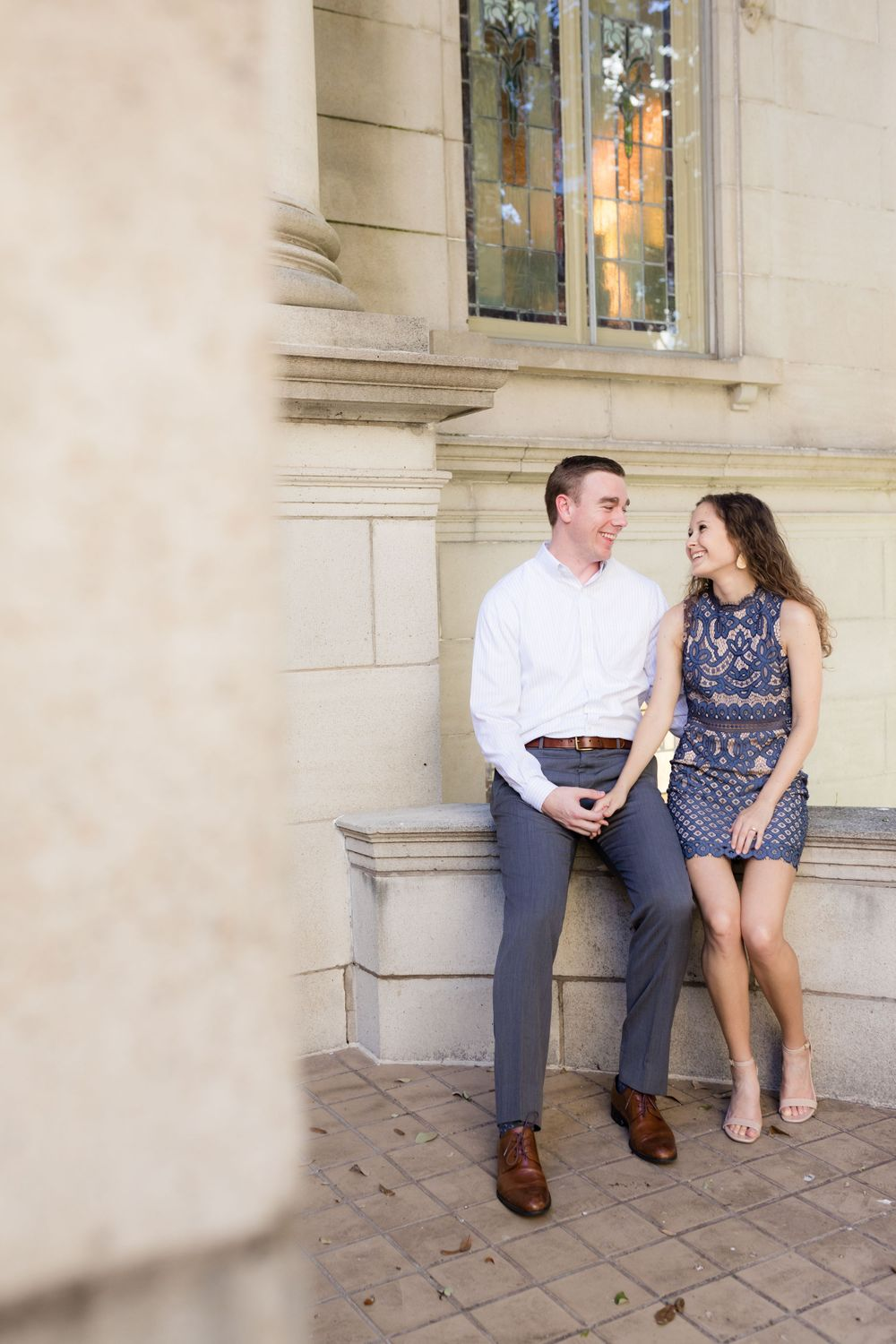 Engagement Session in Downtown Fort Worth and Sundance Square