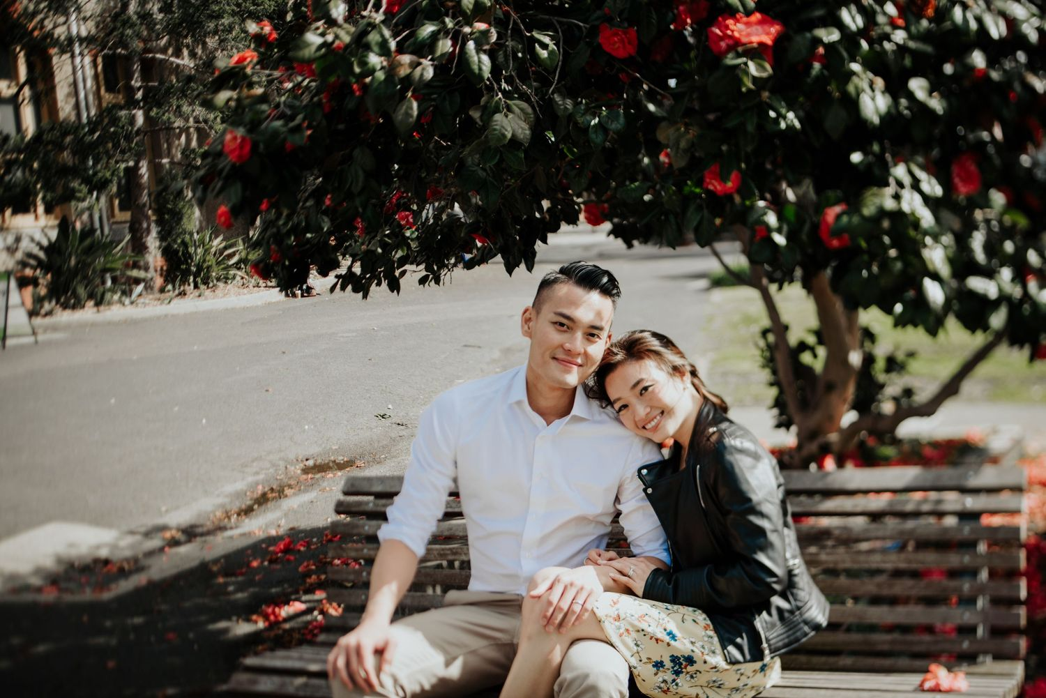 Candid relaxed international wedding prewedding engagement photography Hong Kong couple in Melbourne
