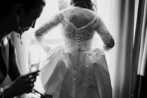 Bride in Caroline Castigliano wedding dress
