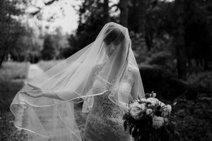 Stylish bride with a veil
