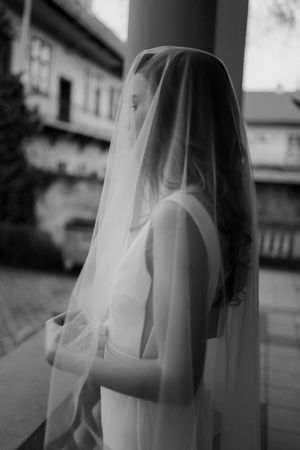 Elegant bride with veil