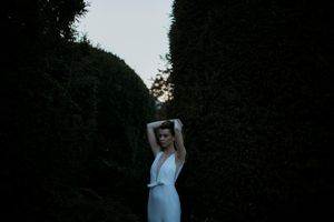 Beautiful bride in Tijana Zunic wedding gown