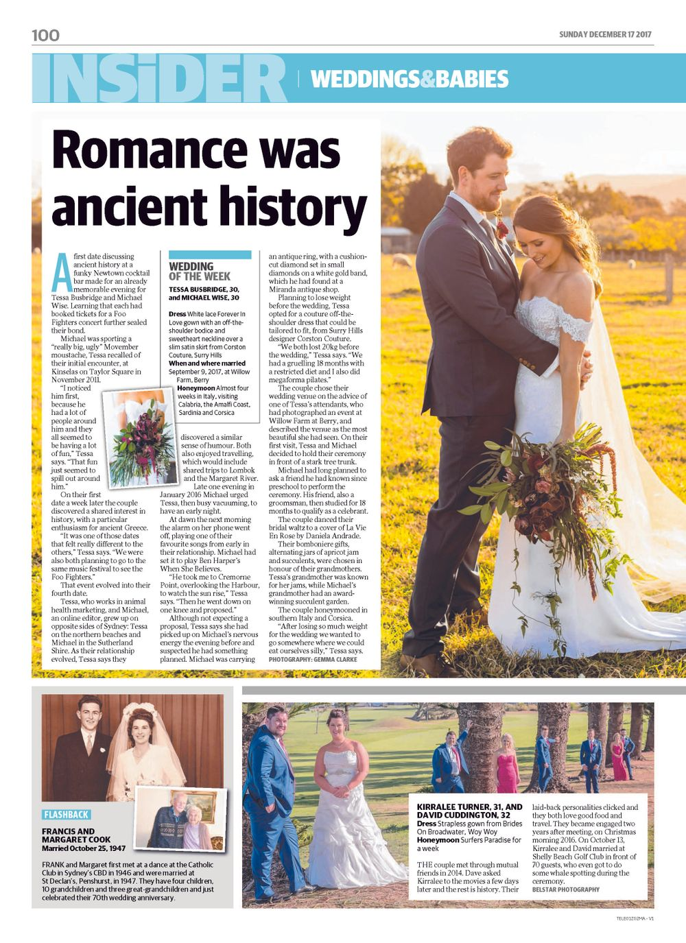 just married couple editorial sunday telegraph