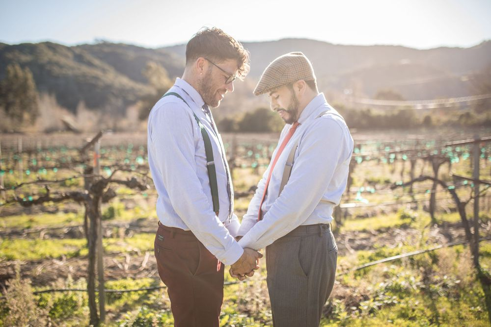 LGBTQ+ Wedding Folktale Winery Carmel California Elopement Gay Wedding