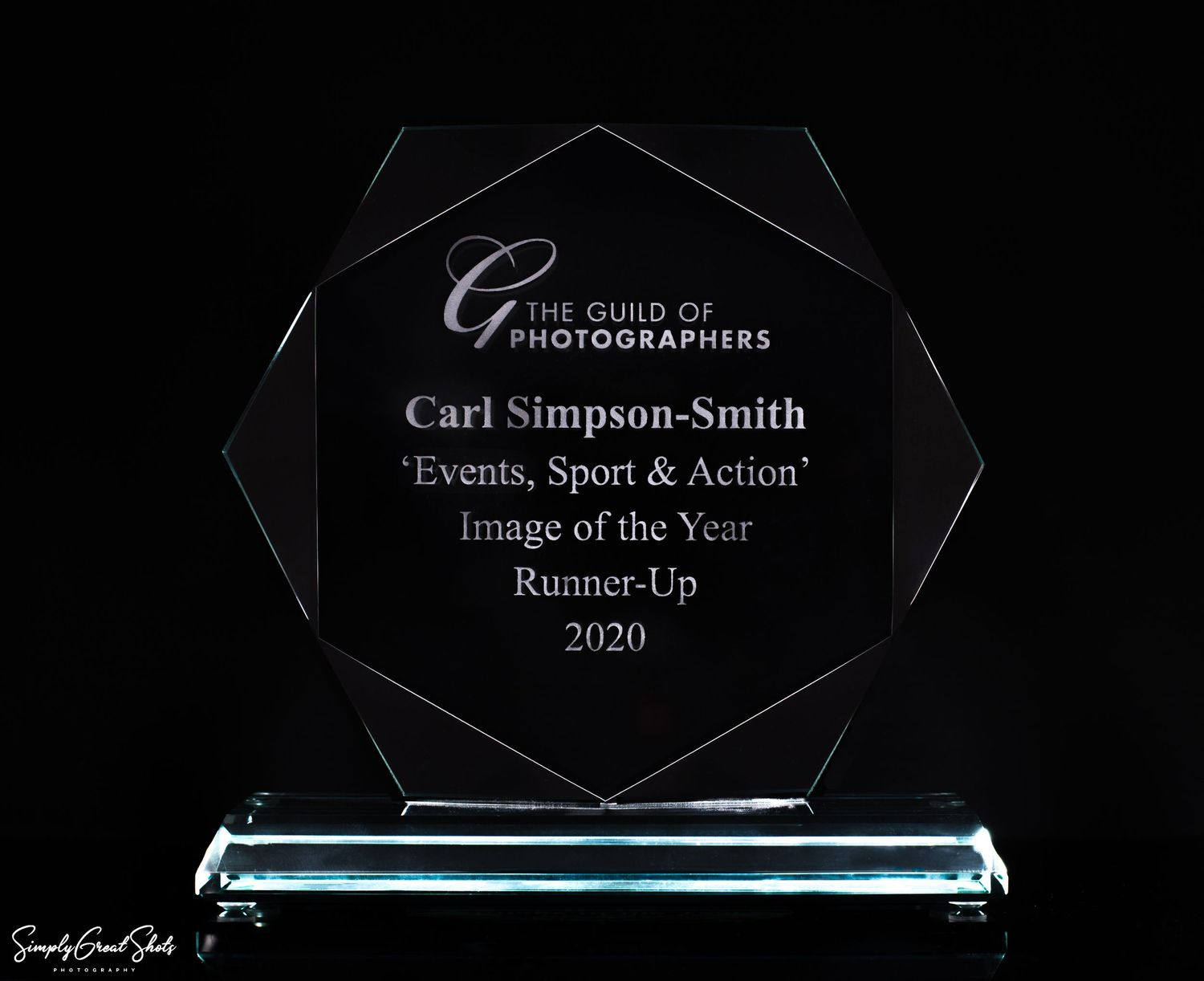 Runner-Up trophy in the Events, Sport & Action Category