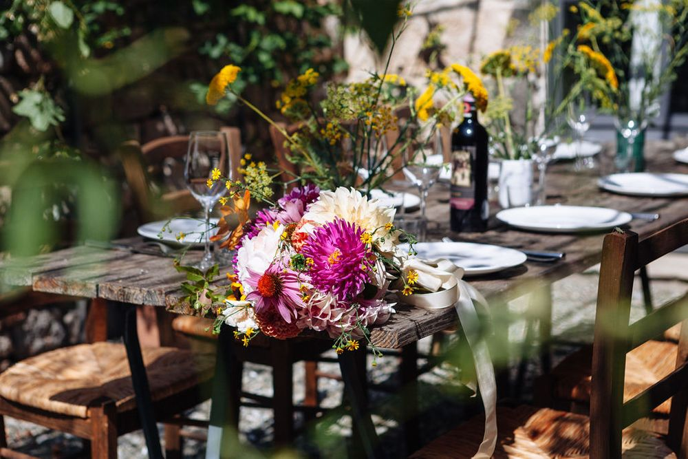 Tuscany wedding flower inspiration and photography