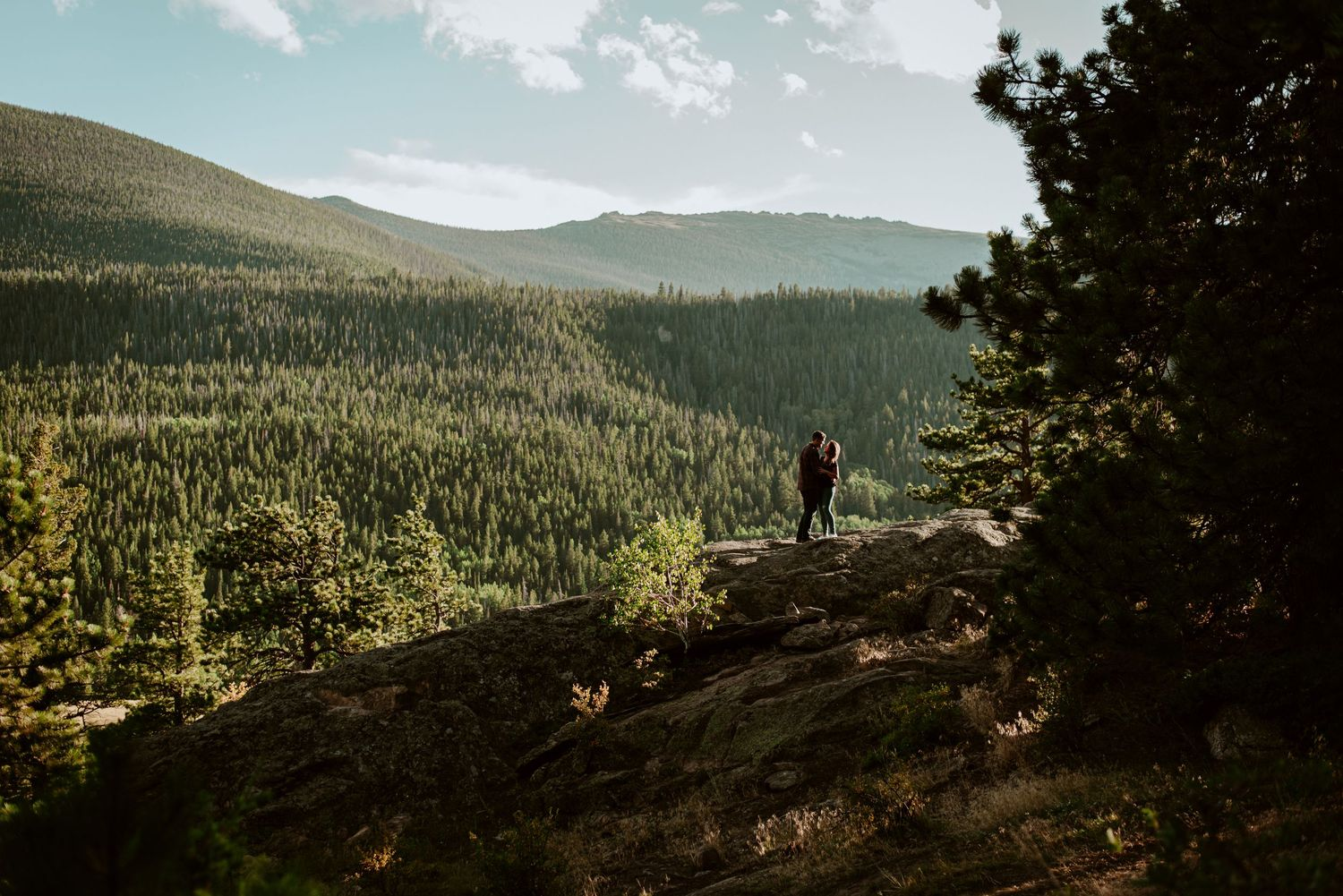 rocky mountain nation park in estes park colorado, adventure engagement couples photographer in estes park