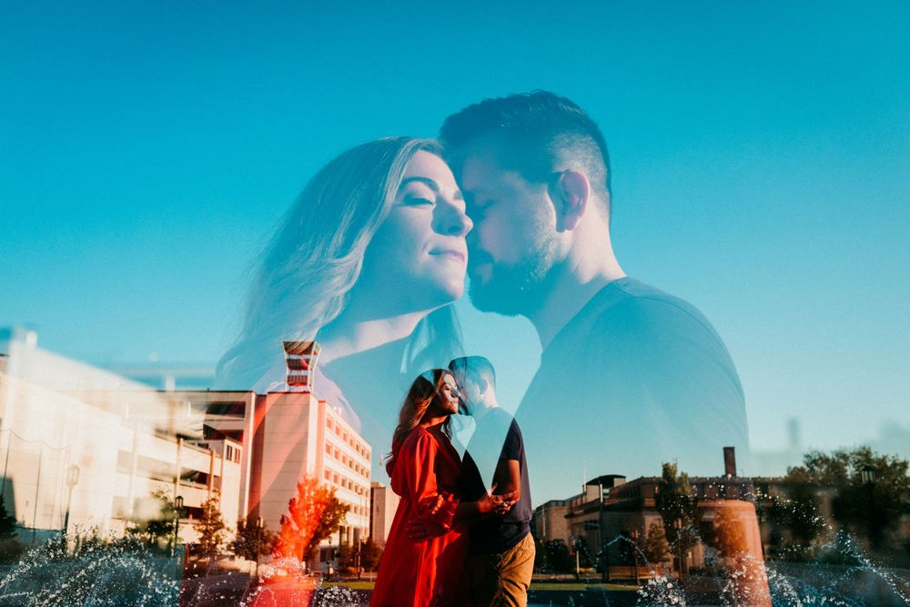maternity photo & double exposure