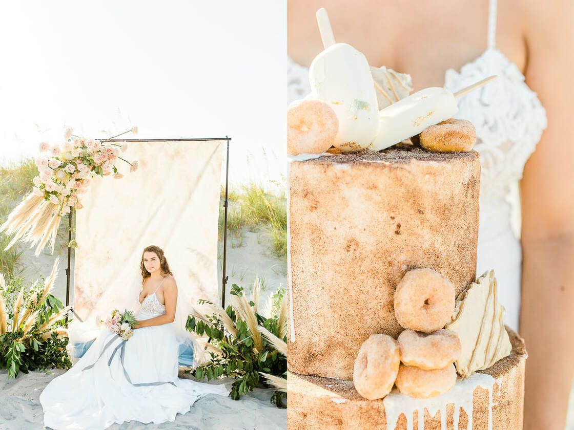 cake details from vanilla and the bean on tybee island