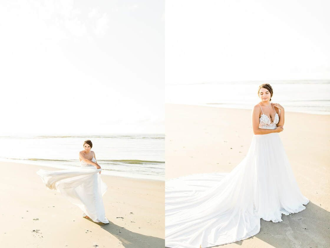 flowy portraits for boho styled shoot with ivory & beau on tybee island, ga
