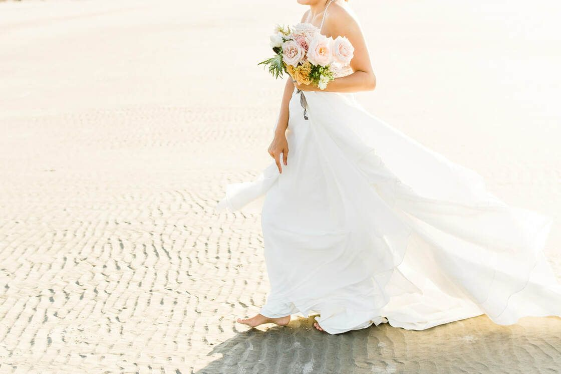 bridal details for boho styled shoot with ivory & beau on tybee island, ga