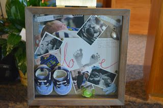 The shadow box I made for Amos to be by his casket during his funeral at Morningside Baptist Church in Sioux City, IA.