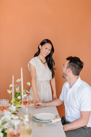 Japanese Ikebana Stylized Engagement Shoot