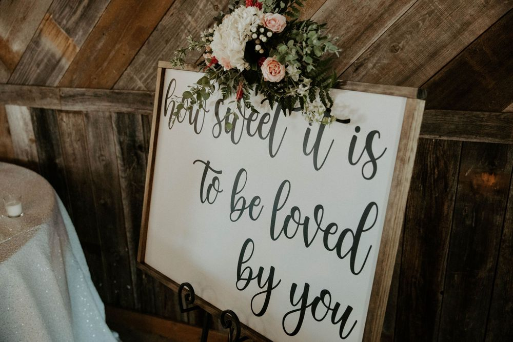 How Sweet It Is To Be Loved By You sign decor for rent at The Reserve at Ranger Creek Ranch