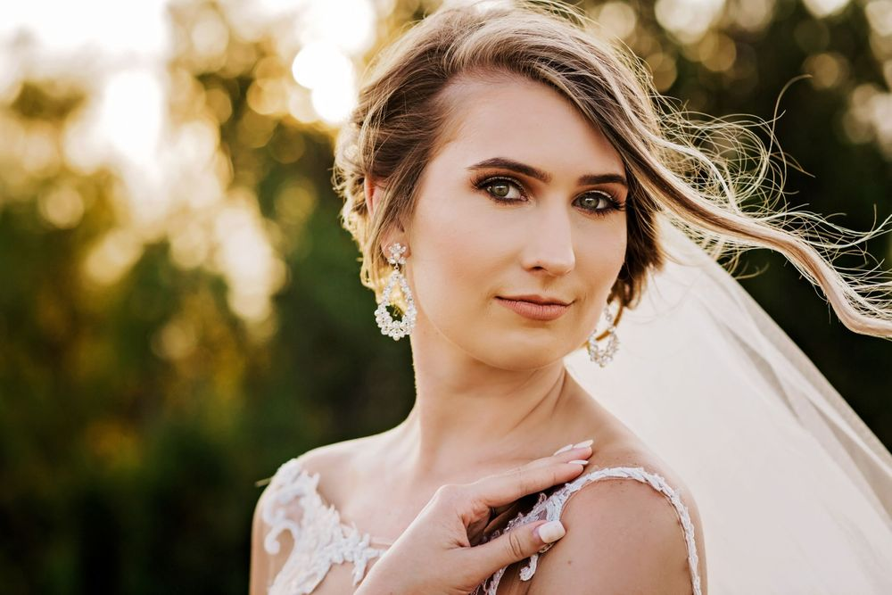 Outdoor bridal portrait captured at The Reserve at Ranger Creek Ranch in Seymour, Texas