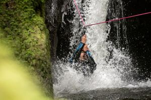The Adventure Photographers The Canyoning Company Dollar zipline